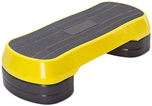 LXNQG Ejercicio Step Home Fitness Nivel 3 Aerobics Stepper Multi-Function Altura Ajustable Aerobic Stepper Ayuda a Mejorar la coordinación (Color: Amarillo, Tamaño: 85 cm) w