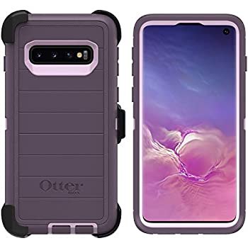 OtterBox Defender Series Rugged Case & Holster for Samsung Galaxy S10  ONLY  Retail Packaging -  with Microbial Defense   Purple Nebula
