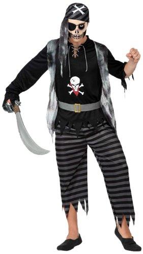 Atosa - 14940 - Costume - Déguisement - Pirate Fantôme - Adulte - T-2