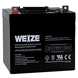 Weize 12V 55AH Deep Cycle Battery UB12550