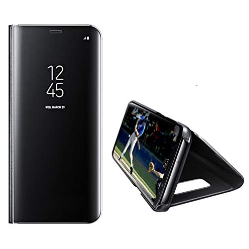 of samsung galaxy phones dec 2021 theres one clear winner Anyos Galaxy S8 Case, Clear View Standing Mirror Flip PC Cover for Samsung GalaxyS8 (Black)