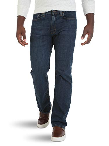 Wrangler Authentics Men's Big & Tall Relaxed Fit dark Waist Jean