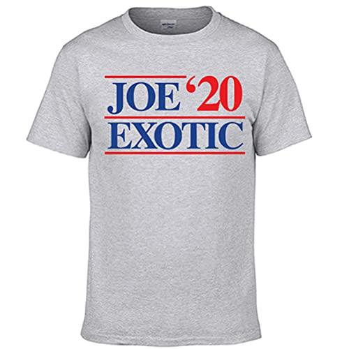 Tiger King Joe Exotic Camiseta Compacto y ligero de Active manga corta de la camiseta de las mujeres de peso ligero de manga corta camiseta de los hombres adelgazan la manga corta suelta unisex Hombre