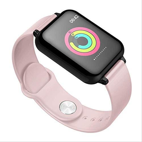 Iis Mur hanjnwi Reloj Inteligente Monitor de frecuencia cardíaca a Prueba de Agua Presión Arterial Modo Deportivo múltiple Reloj Inteligente Mujeres Hombres Usable como se Muestra Rosado