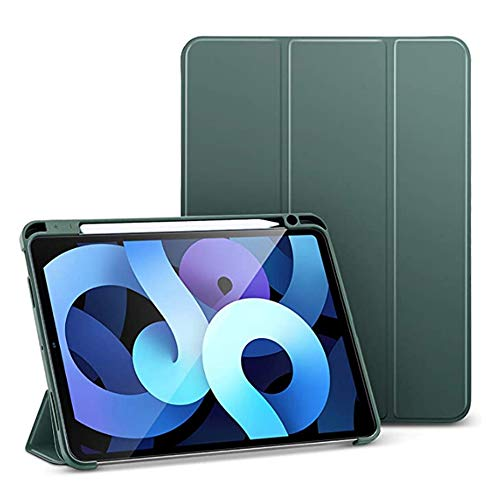 Hourongw Funda plegable para iPad Air de 4ª generación, para iPad Air 4 2020, ligera, iPad de 11 pulgadas, funda flexible y suave, con soporte para lápiz