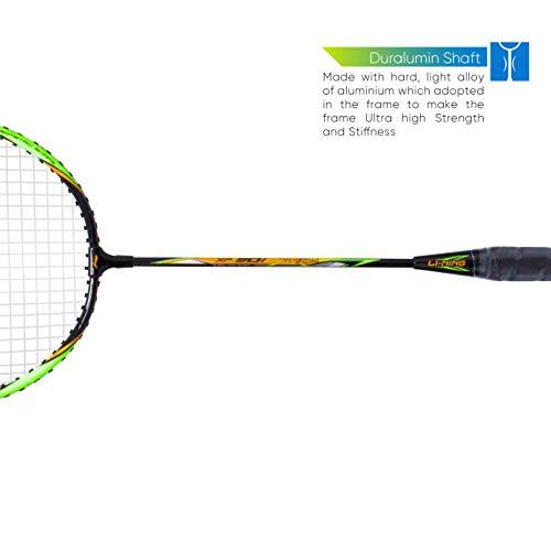 Li-Ning XP 901-PV SINDHU Signature Series Aluminum-Alloy Strung Badminton Racquet (Set of 1,BLACK/GREEN , S2 , 90-95 grams , 18-20 lbs )