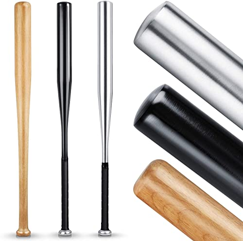 HELDENWERK Baseballschläger aus Holz oder Aluminium - Solide verarbeitet (Holz), Rutschfester Griff 31 Zoll