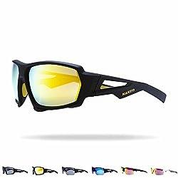 NAKED Optics Sportbrille (Fullframe Black/Lens Yellow)