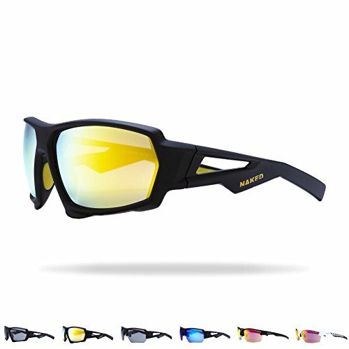 NAKED Optics Sportbrille Charge (Fullframe Black/Lens Yellow)