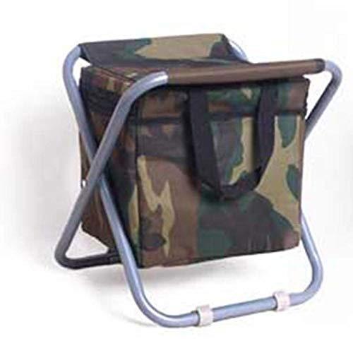 ZFLL Tafel en stoelen, inklapbaar, picknick, campingstoel, opvouwbaar, draagbaar, multifunctioneel, met geïsoleerde picknicktas, koel wandelen, tafeltas, camouflage, stoel, polka Camouflage 28x30cm