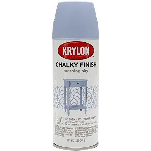 Krylon K04110000 K04110007 Chalky Finish Spray Paint, Aerosol, Morning Sky