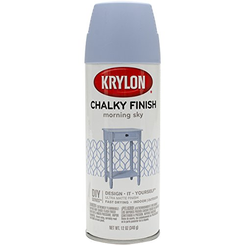Krylon K04110000 K04110007 Chalky Finish Spray Paint, Aerosol, Morning Sky