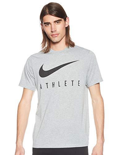 NIKE M Nk Dry tee Db Athlete Camiseta de Manga Corta, Hombre, dk Grey Heather/(Black)