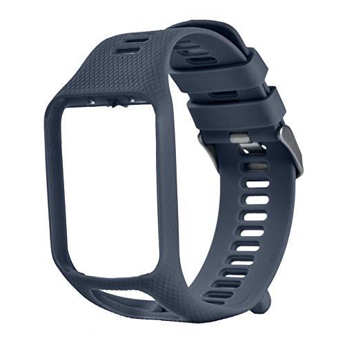 ClookYuan Band für Tomtom 1 Multi-Sport GPS HRM CSS Uhr Cardio Runner-Uhr-Silikon Soft Strap Armband Armband - Rock Blau