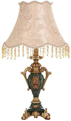 zvcv Decorazioni per la casa Lampada da Tavolo Antica Resina Illuminazione per Interni Lampada da Comodino Decorazione Soggiorno Studio E27 (Taglia: L)