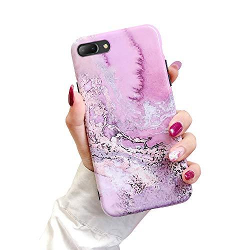 Suhctup Compatible con iPhone 6/iPhone 6S Funda de Suave TPU con Dibujos Acuarela Diseño Patrón Cárcasa Flexible Ultra Delgado Gel Silicona Antigolpes Bumper Protección Caso-Rosa 1