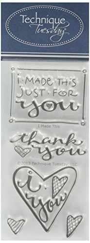 """Technique Tuesday Clear Stamps 2""""X4""""-I Made This"""