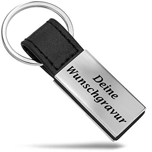 Mister Boncuk® Schlüsselanhänger mit Gravur | Frei Personalisierbar Schlüsselanhänger in Geschenkbox - mit individueller Gravur (Matt)