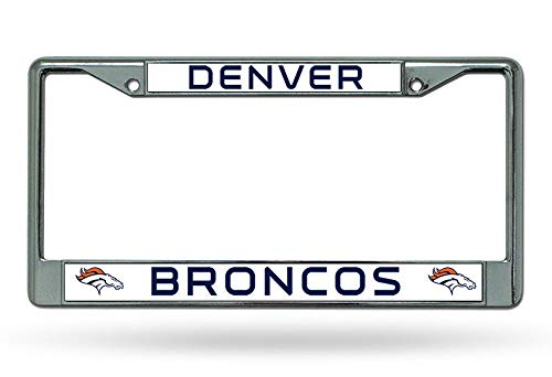 Yohoba Denver Broncos Chrome License Plate Frame