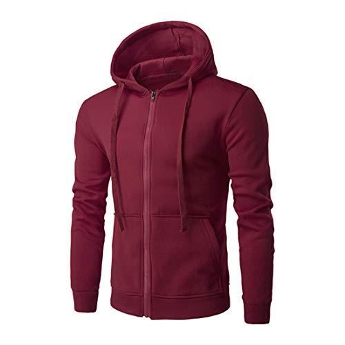 Herren Hoodie Jacke Hoodie Zip Sweatshirt Hoody reißverschluss Full-Zip Sportswear Herren Jacke übergangsjacke solid Color Jacket 2020 Neue Fashion Tops Coat Lightweight Casual L