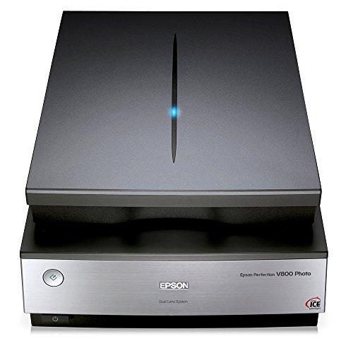 Epson Perfection V800 Flachbettscanner 6400 x 9600DPI A4 Schwarz, Metallisch - Scanner (216 x 297 mm, 6400 x 9600 DPI, 48 Bit, 48 Bit, 6 Sekunde/Seite, Flachbettscanner)