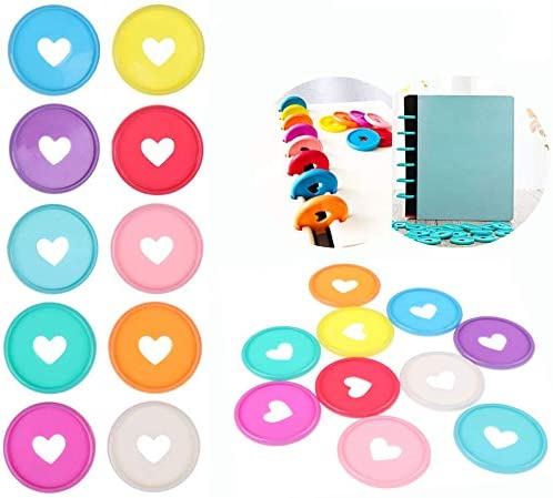 60 Pcs Plastic Loose Cheap SALE Start Leaf Binder Expan Discbound Colors Discs All stores are sold 6