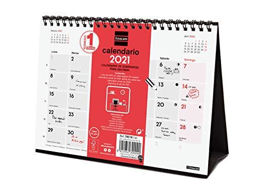 Finocam - Calendario Neutro de sobremesa 2021 Escribir Español