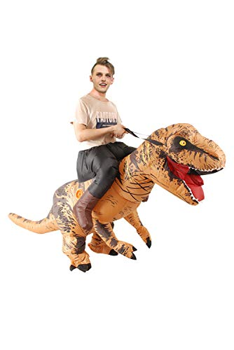 Inflatable Rider Costume Riding Me Fancy Dress Funny Dinosaur Dragon Funny Suit Mount Adult (Adult(150-200CM), T-Rex)
