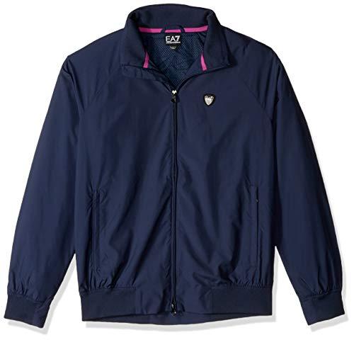 Emporio Armani Herren Training Performance & Stylite Green Club Jacket Windjacke, Marineblau, Large