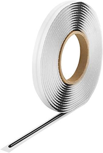 Poppstar Butylrundschnur Klebeband (5 m x 4 mm) Dichtband selbstklebend, rund, schwarz
