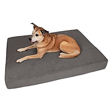 Big Barker 7  Pillow Top Orthopedic Dog Bed - XL Size - 52 X 36 X 7 - Charcoal Gray - For Large and Extra Large Breed Dogs (Sleek Edition)