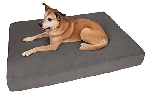 Big Barker 7' Pillow Top Orthopedic Dog Bed - Large Size - 48 X 30 X 7 - Charcoal Gray - for Large and Extra Large Breed Dogs (Sleek Edition)