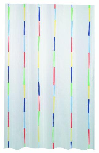 """Spirella Anti-Schimmel Duschvorhang - Anti-Bakteriell, waschbar, wasserdicht, Polyester, """"Dario"""" 120x200cm Weiß Bunt"""