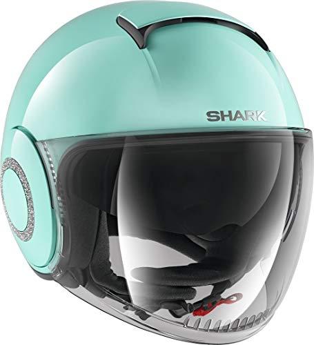 Shark Casco moto NANO SWAROVSKI BLANK GRN, Verde, XS