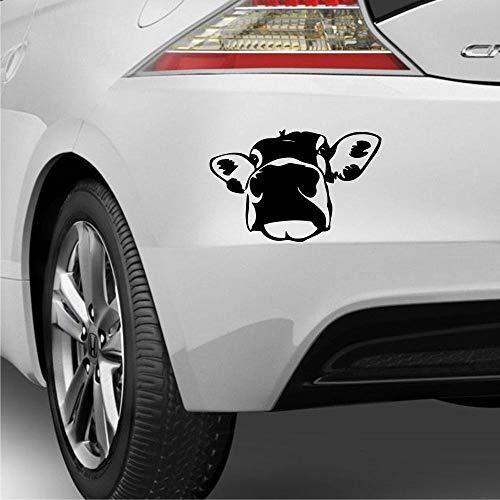 myrockshirt Lustige Kuh Kopf Milchkuh Rind Rindvieh Landwirtschaft 25cm Aufkleber Autoaufkleber Sticker Decal UV&Waschanlagenfest Profi Qualität