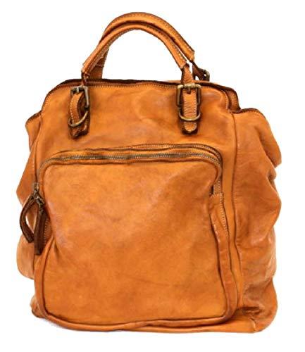 BZNA Bag Rob cognac Backpacker Designer Rucksack Damenhandtasche Schultertasche Leder Nappa sheep ItalyNeu