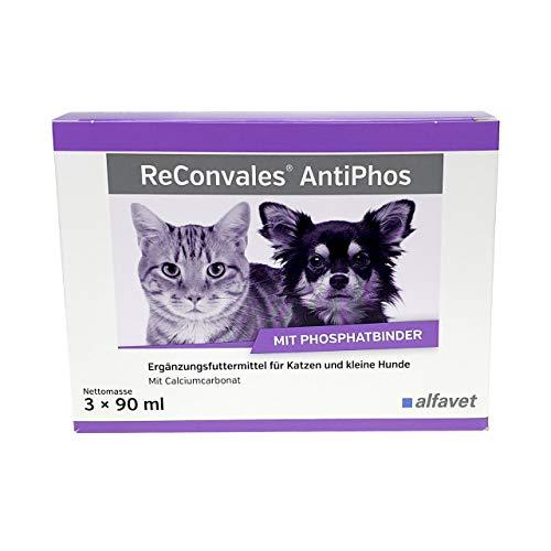 ReConvales Antiphos 3 x 90 ml-Ergänzungsfuttermittel zur Unterstützung der Nierenfunktion bei chronischer Niereninsuffizienz