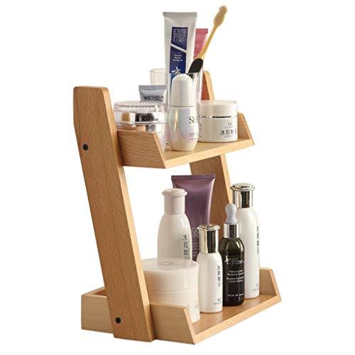 ZXL Organisateurs cosmétiques étagère de Salle de Bains Cosmetic Storage Rack Salle de Bains Soins de la Peau Stockage Rack Finition Rack Rack Cadeau en Bois (Couleur: Bois, Taille: 26 * 16 * 31
