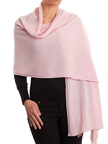 DALLE PIANE CASHMERE - Stola aus 100% Kaschmir - für Frau, Farbe: Rosa, Einheitsgröße