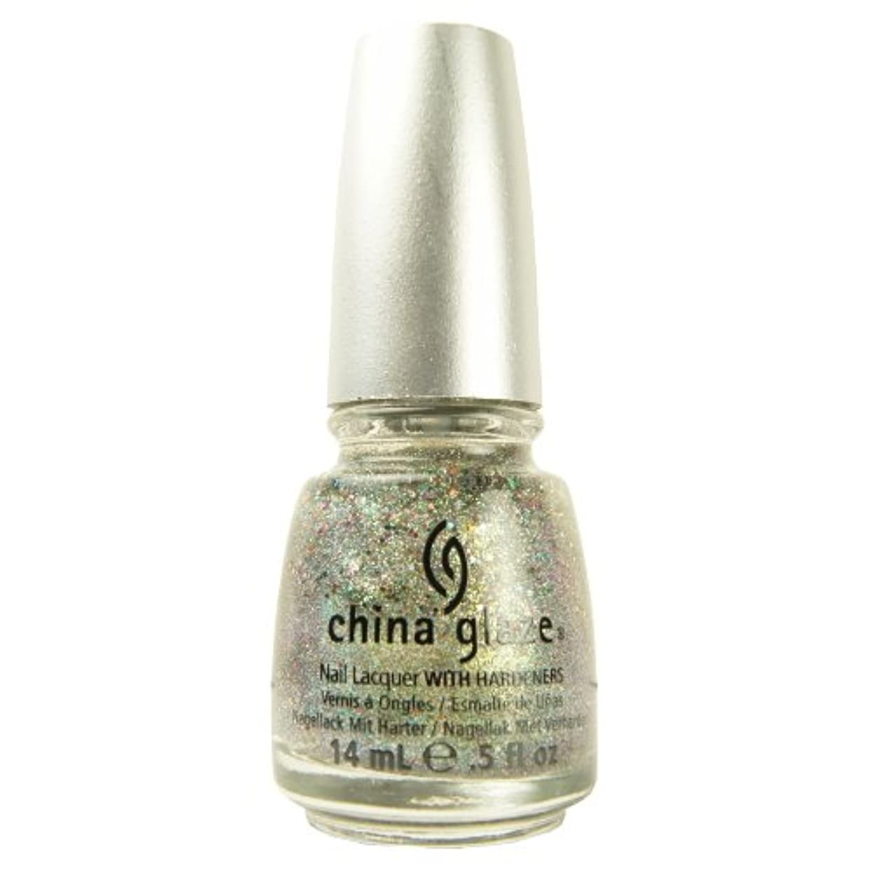 パフ教え洗剤(3 Pack) CHINA GLAZE Glitter Nail Lacquer with Nail Hardner - Ray-Diant (DC) (並行輸入品)