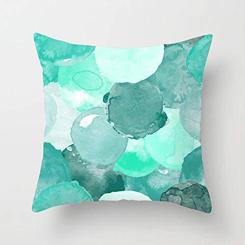 Dafang Fundas de colchón Teal Blue Geometric Hugging Pillow Cover Funda de cojín de Almohada para sofá casero-DRD157-35_Piel de durazno 45X45
