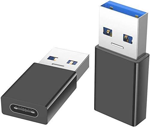 INVID 5Gbit/s ECHTE USB3.1 Adapter auf USB-C, Aluminium Gehäuse, Adapter USB c auf USB für USB-C Kabel, USB c auf USB, USB c, USB auf USB c, USB a auf USB c, USB-c Adapter, USB c auf USB Adapter, USB