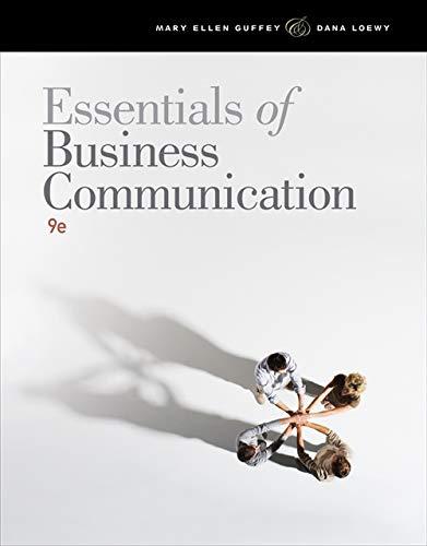 Essentials of Business Communication -  Guffey, Mary Ellen, Paperback
