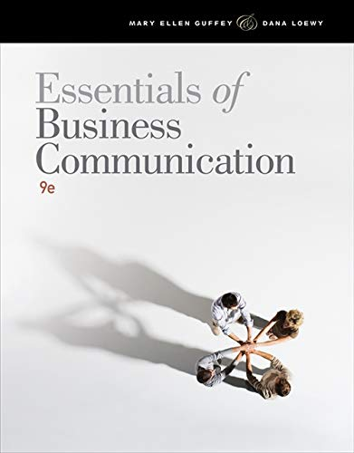 Essentials of Business Communication -  Guffey, Mary Ellen, Paperback