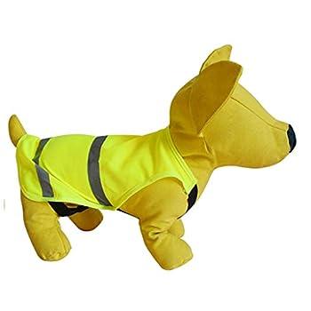 ZYJ Imperméable Chien Animaux Fluorescent Gilet de sécurité Chien Highlight Visibilité Avertissement Vêtements réfléchissants for la Marche Courir la Nuit Gilets de securite (Taille : L)