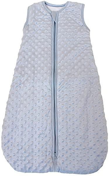 婴儿睡袋 Minky 圆点蓝色绗缝和双层 2 5 Togs 中号 10 24 Mos