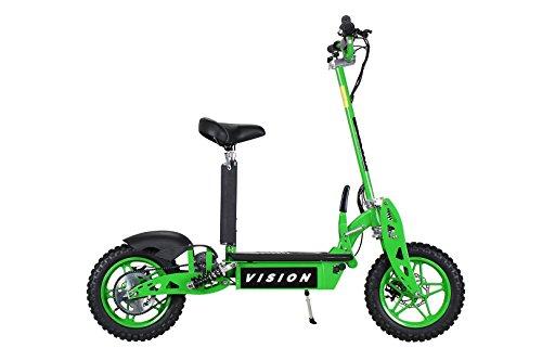 E-Scooter Roller Original E-Flux Vision mit 1000 Watt 36 V Motor Elektroroller E-Roller E-Scooter in vielen Farbe (Grün)