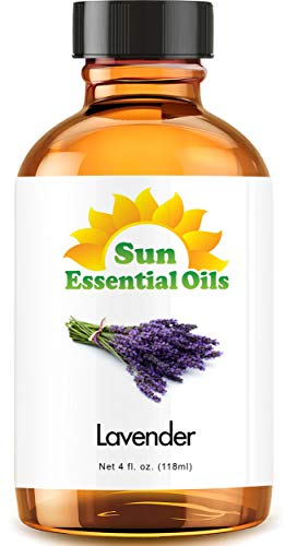 Lavender Essential Oil (Huge 4oz Bottle) Bulk Lavender Oil - 4 Ounce, Packaging May Vary