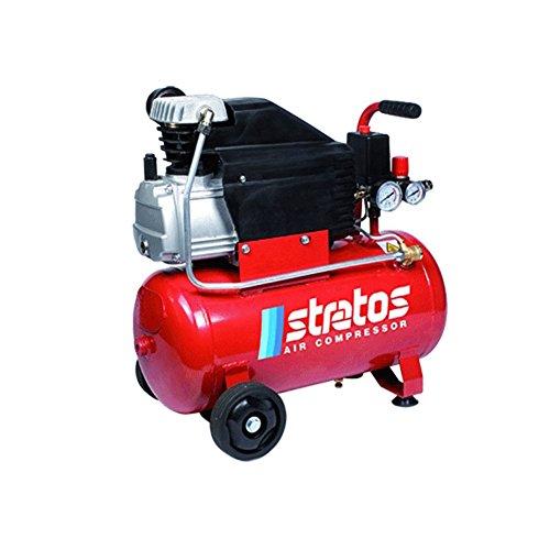 Kompressor 'Stratos 24' Öl-Typ Koaxialkabel mit Zylinder aus Gusseisen. Gebaut nach den höchsten internationalen Vorschriften. Elektromotor, Kopfteil aus Aluminium.