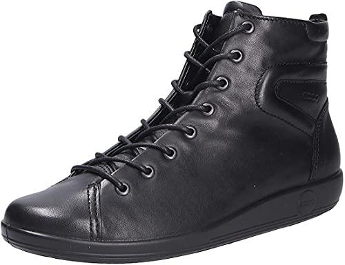 Ecco Soft 2.0, Zapatillas Altas para Mujer, Negro (Black with Black Sole 56723), 40 EU